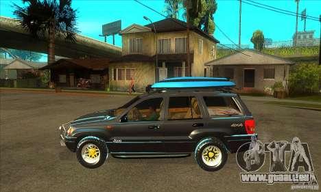 Jeep Grand Cherokee 2005 pour GTA San Andreas laissé vue