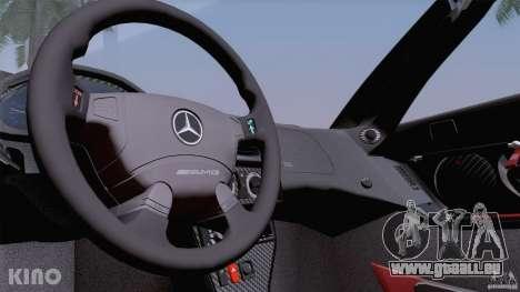 Mercedes-Benz CLK GTR Road Carbon Spoiler pour GTA San Andreas salon