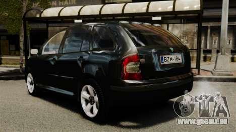 Skoda Fabia Combi Unmarked ELS pour GTA 4 Vue arrière de la gauche