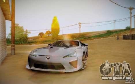 Lexus LFA für GTA San Andreas Innenansicht
