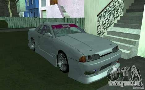 Elegy MS R32 pour GTA San Andreas vue intérieure