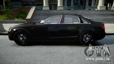 Audi S4 Unmarked [ELS] pour GTA 4 est une gauche