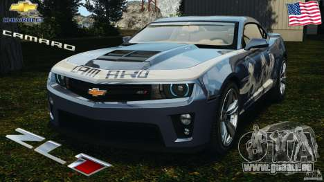 Chevrolet Camaro ZL1 2012 v1.0 Smoke Stripe für GTA 4