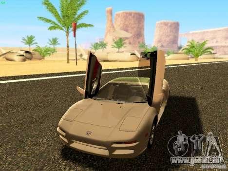 Honda NSX Custom pour GTA San Andreas sur la vue arrière gauche