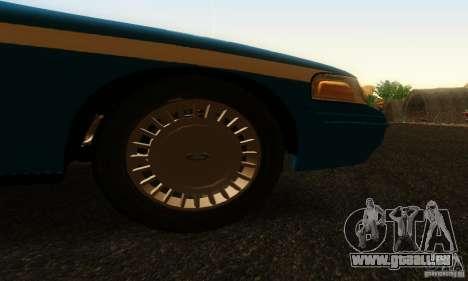 Ford Crown Victoria Wisconsin Police für GTA San Andreas rechten Ansicht