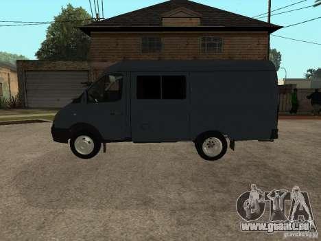 Business Gazelle 2705 pour GTA San Andreas sur la vue arrière gauche