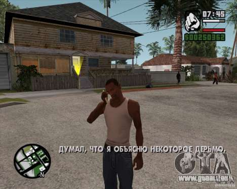 NES pour GTA San Andreas deuxième écran
