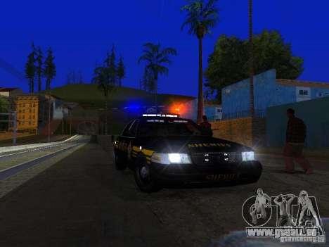 Ford Crown Victoria Erie County Sheriffs Office für GTA San Andreas Innen
