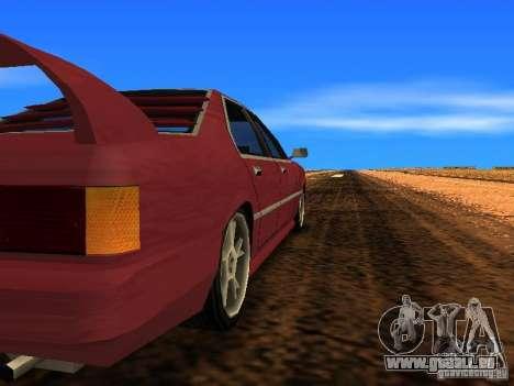 Sentrel Mini Tuning pour GTA San Andreas sur la vue arrière gauche