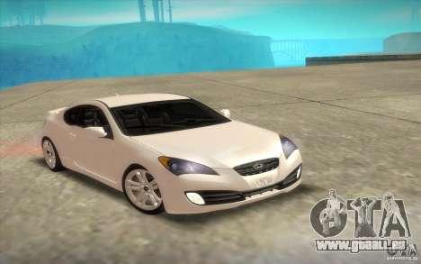Hyundai Genesis 3.8 Coupe für GTA San Andreas obere Ansicht