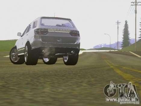 Dodge Durango 2012 pour GTA San Andreas vue intérieure
