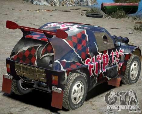 Mitsubishi Pajero Proto-Dakar Vinyl 3 für GTA 4 rechte Ansicht