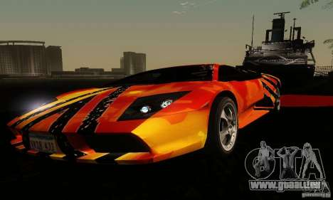 Lamborghini Murcielago für GTA San Andreas Seitenansicht