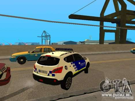 Nissan Qashqai Espaqna Police pour GTA San Andreas vue de droite
