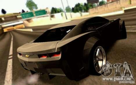 Chevrolet Camaro Tuning pour GTA San Andreas laissé vue