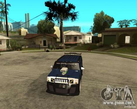 AMG H2 HUMMER Jvt HARD exclusive TUNING pour GTA San Andreas vue arrière