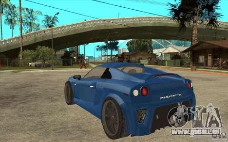 Mastretta MXT v1.1 pour GTA San Andreas sur la vue arrière gauche