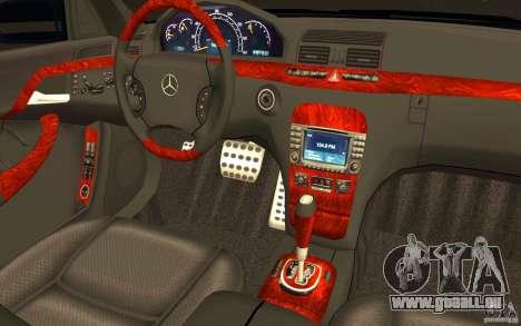 Mercedes-Benz S600 Pullman W220 für GTA San Andreas obere Ansicht