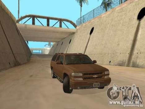 Chevrolet Suburban 2003 pour GTA San Andreas laissé vue