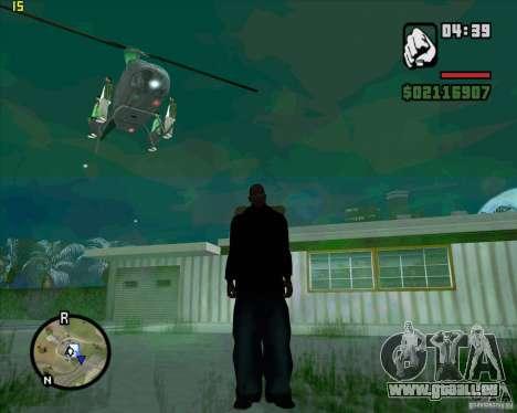 Aide de l'hélicoptère pour GTA San Andreas quatrième écran