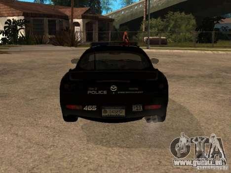 Mazda RX-7 Police für GTA San Andreas rechten Ansicht