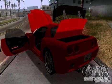 Chevrolet Corvette C5 für GTA San Andreas Unteransicht