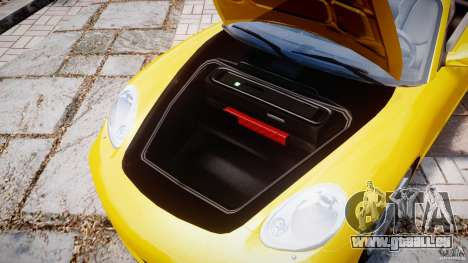 Porsche Boxster S pour GTA 4 Vue arrière