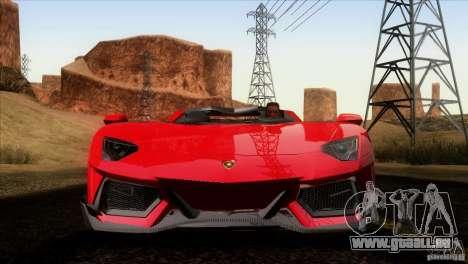 Lamborghini Aventador LP-700 J pour GTA San Andreas vue de dessous