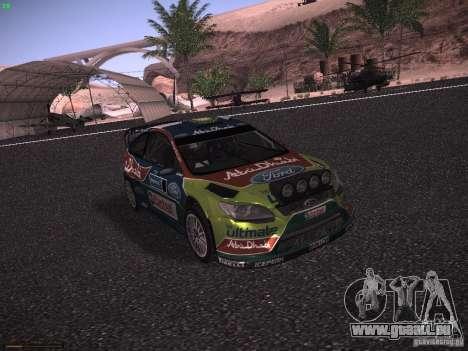 Ford Focus RS WRC 2010 pour GTA San Andreas laissé vue