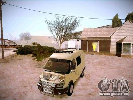 GAZ 2217 Business pour GTA San Andreas vue intérieure