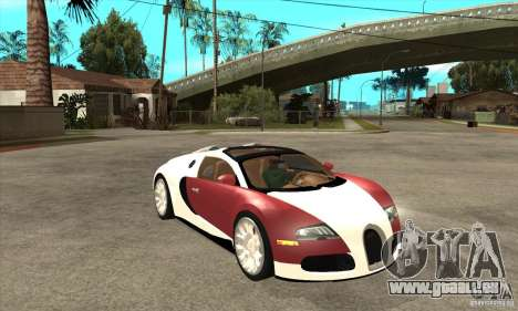 Bugatti Veyron Grand Sport für GTA San Andreas Rückansicht