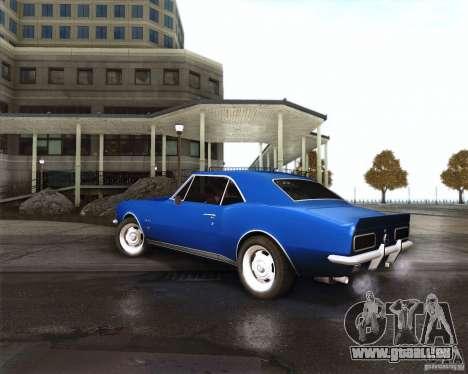 Chevrolet Camaro 1969 pour GTA San Andreas vue de droite