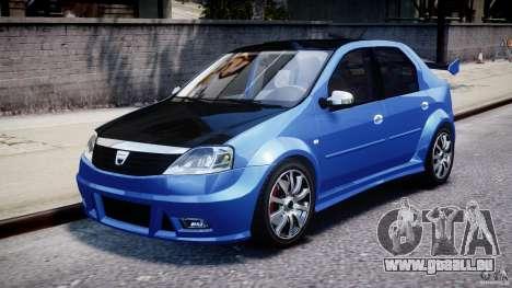 Dacia Logan 2008 [Tuned] pour GTA 4 est une gauche