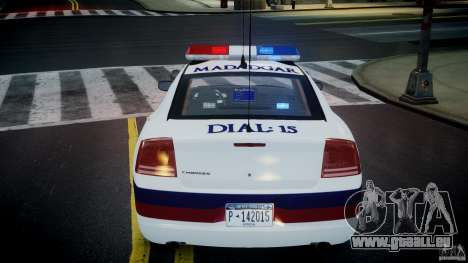 Dodge Charger Karachi City Police Dept Car [ELS] für GTA 4 obere Ansicht