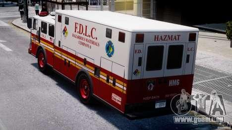 LCFD Hazmat Truck v1.3 für GTA 4 Seitenansicht