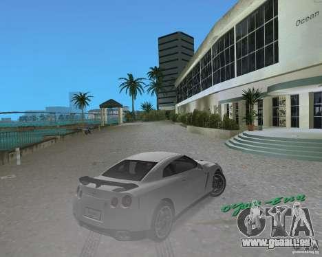 Nissan GT R35 Vspec pour une vue GTA Vice City de la droite