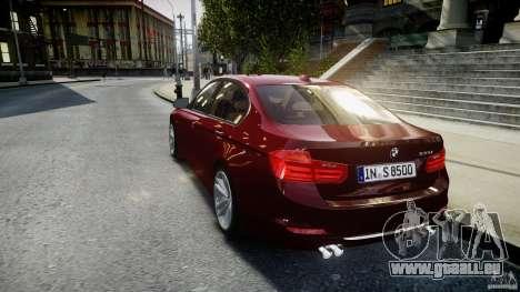 BMW 335i 2013 v1.0 pour GTA 4 Vue arrière de la gauche