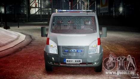 Ford Transit Polish Firetruck [ELS] pour GTA 4 est un côté