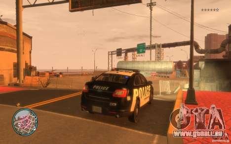 Ford Taurus Police für GTA 4 hinten links Ansicht