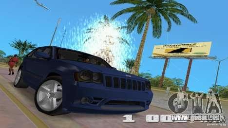 Jeep Grand Cherokee für GTA Vice City Innenansicht