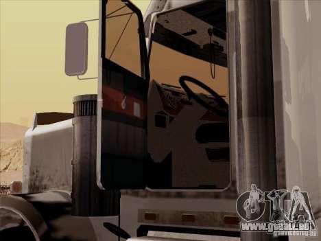 Kenworth W 900 RoadTrain pour GTA San Andreas vue intérieure