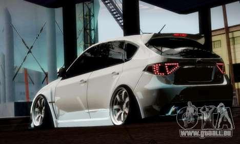 Subaru Impreza WRX Camber pour GTA San Andreas vue de dessous
