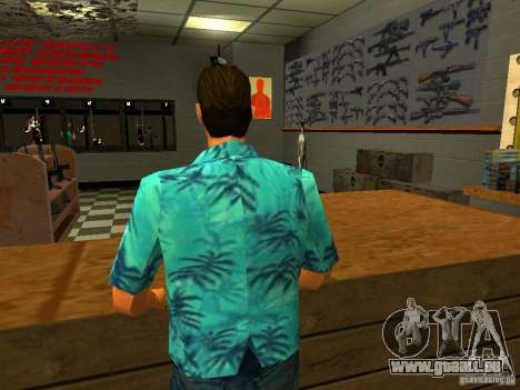Tommy Vercetti in AMMU-NATION für GTA San Andreas dritten Screenshot