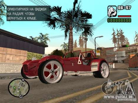 Caterham CSR 260 für GTA San Andreas linke Ansicht