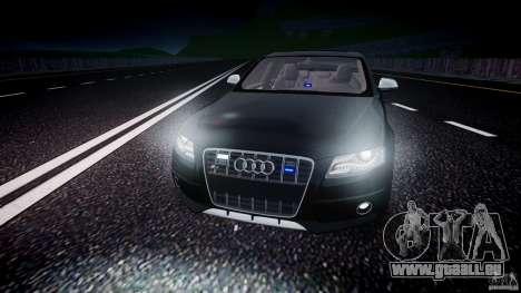 Audi S4 Unmarked [ELS] pour GTA 4 est une vue de dessous