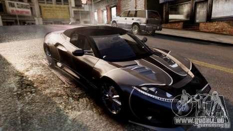 Spyker C8 Aileron Spyder Final pour GTA 4 vue de dessus