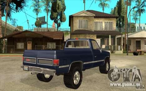 GMC Sierra 1986 für GTA San Andreas rechten Ansicht