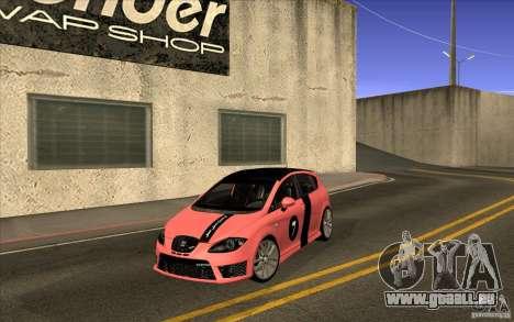 Seat Leon Cupra R für GTA San Andreas Innenansicht