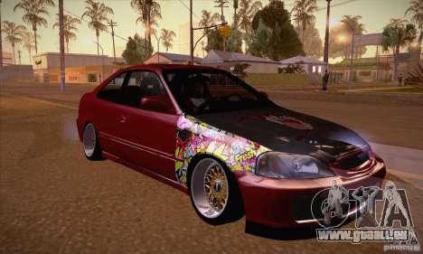 Honda Civic Tuning 2012 pour GTA San Andreas vue arrière