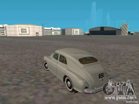 GAZ M20 Pobeda 1949 pour GTA San Andreas sur la vue arrière gauche